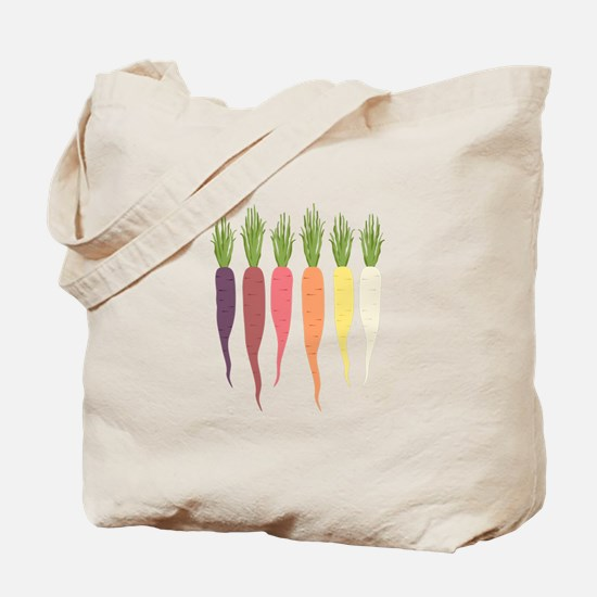 Rainbow Carrots Tote Bag