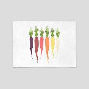 Rainbow Carrots 5'x7'Area Rug