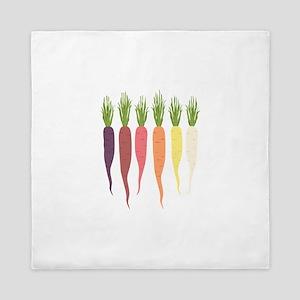 Rainbow Carrots Queen Duvet