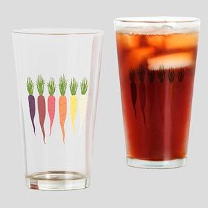 Rainbow Carrots Drinking Glass