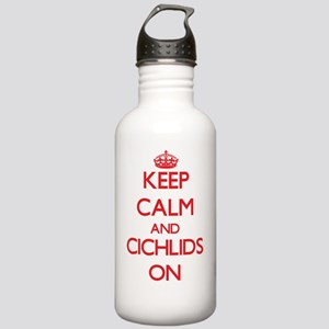 Keep calm and Cichlids Stainless Water Bottle 1.0L