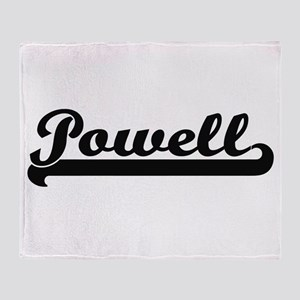 Powell surname classic retro design Throw Blanket