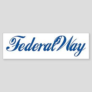 Federal Way (cursive) Bumper Sticker