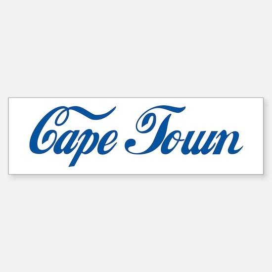 Cape Town (cursive) Bumper Bumper Bumper Sticker