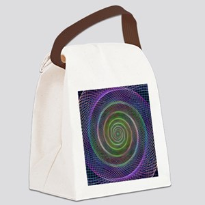 Psychedelic Webbed Spiral Canvas Lunch Bag