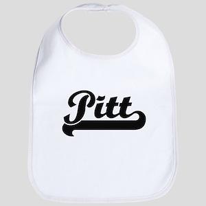 Pitt surname classic retro design Bib