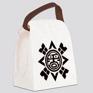 Black Haida Sun God Canvas Lunch Bag
