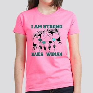 Strong Haida Woman Women's Dark T-Shirt