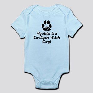 My Sister Is A Cardigan Welsh Corgi Body Suit