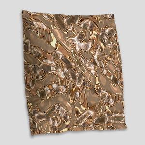 MetalArt liquid textrure Burlap Throw Pillow