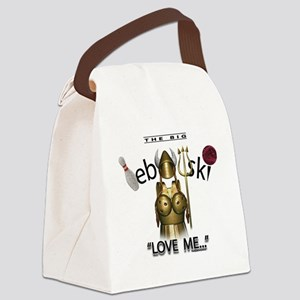 maude lebowski Canvas Lunch Bag