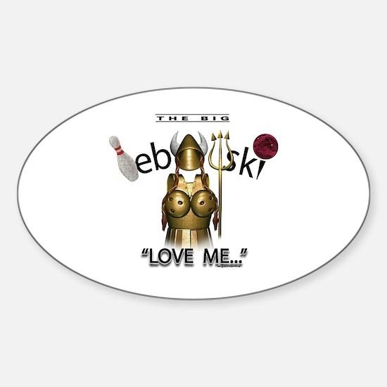 maude lebowski Sticker (Oval)