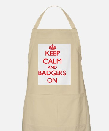 Keep calm and Badgers On Apron