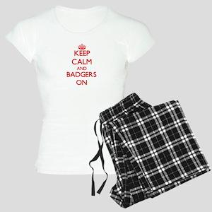 Keep calm and Badgers On Women's Light Pajamas
