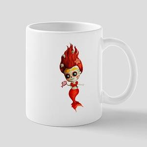 Dia de Los Muertos Mermaid Girl Mugs
