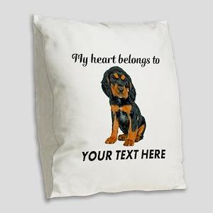 Custom Gordon Setter Burlap Throw Pillow