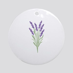 Lavender Flower Ornament (Round)
