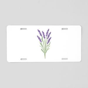 Lavender Flower Aluminum License Plate