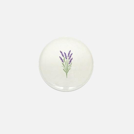 Lavender Flower Mini Button