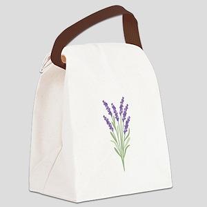 Lavender Flower Canvas Lunch Bag