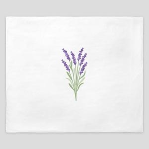 Lavender Flower King Duvet