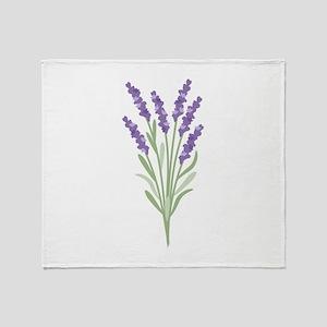 Lavender Flower Throw Blanket