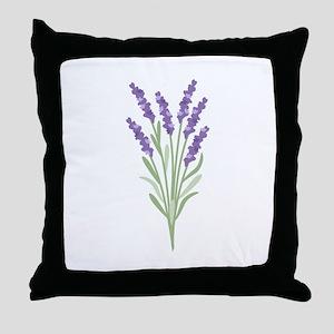 Lavender Flower Throw Pillow