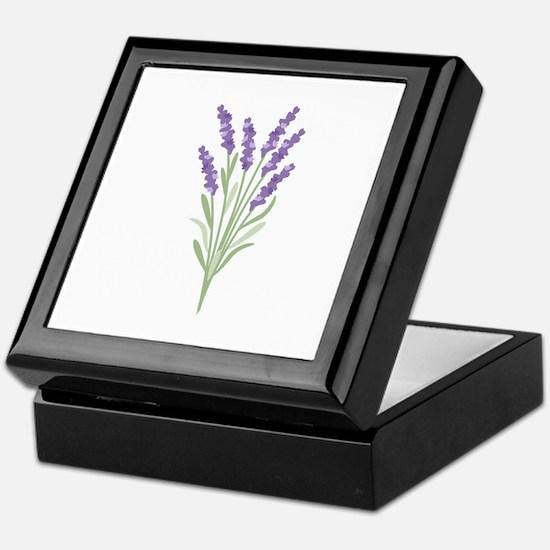 Lavender Flower Keepsake Box