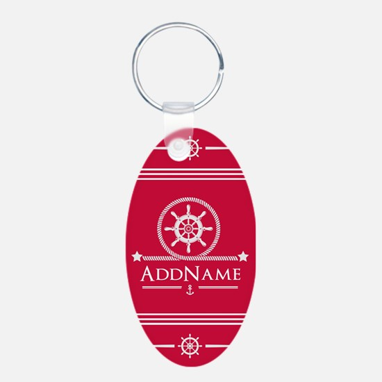 Cherry Red Nautical Ship Wh Keychains