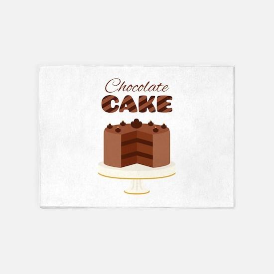 Chocolate Cake 5'x7'Area Rug