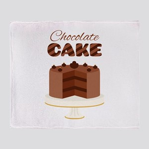 Chocolate Cake Throw Blanket