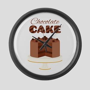 Chocolate Cake Large Wall Clock