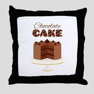 Chocolate Cake Throw Pillow