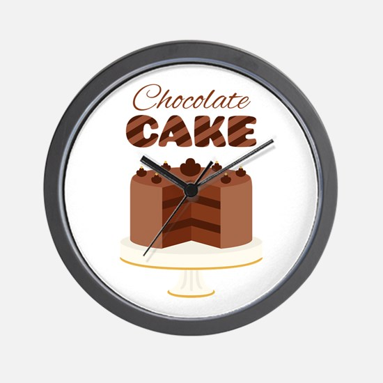 Chocolate Cake Wall Clock