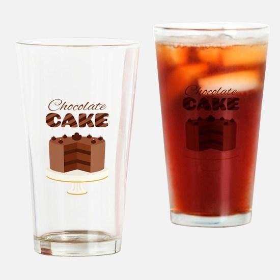 Chocolate Cake Drinking Glass