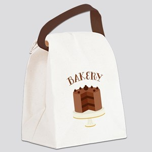 Chocolate Cake Bakery Canvas Lunch Bag