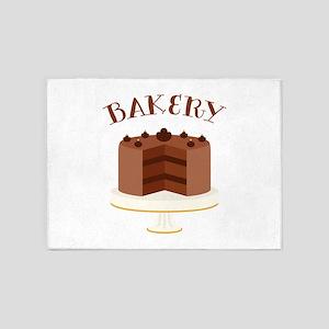 Chocolate Cake Bakery 5'x7'Area Rug