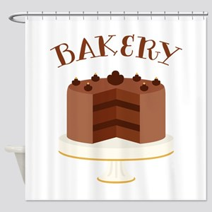Chocolate Cake Bakery Shower Curtain