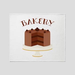 Chocolate Cake Bakery Throw Blanket
