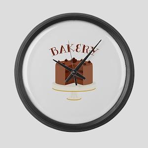 Chocolate Cake Bakery Large Wall Clock