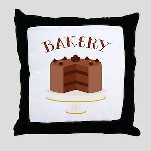 Chocolate Cake Bakery Throw Pillow
