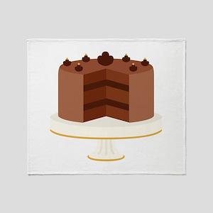 Chocolate Cake Dessert Throw Blanket