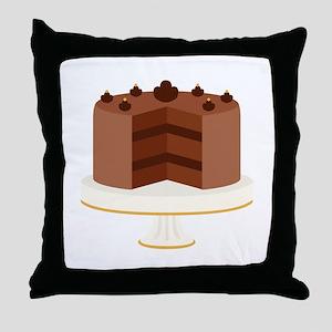 Chocolate Cake Dessert Throw Pillow