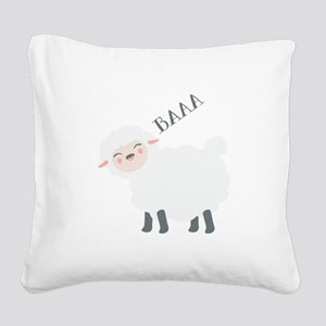 Baaa... Square Canvas Pillow