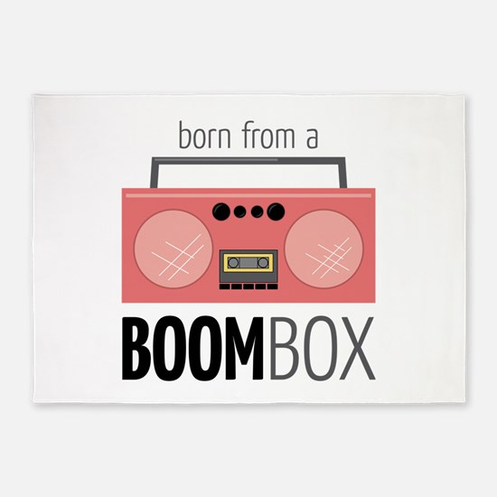 Born from a Boombox 5'x7'Area Rug
