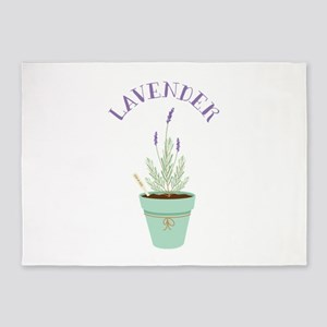 Lavender Herb 5'x7'Area Rug