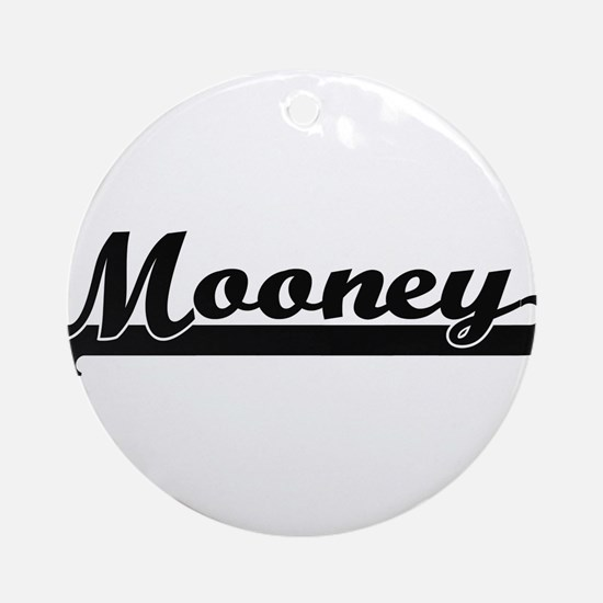Mooney surname classic retro desi Ornament (Round)