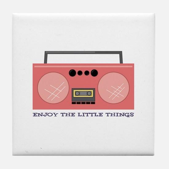 Enjoy The little Things Tile Coaster