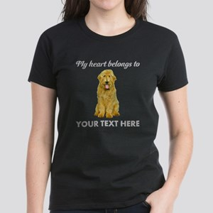 Personalized Goldendoodle Women's Dark T-Shirt