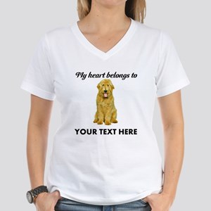 Personalized Goldendoodle Women's V-Neck T-Shirt